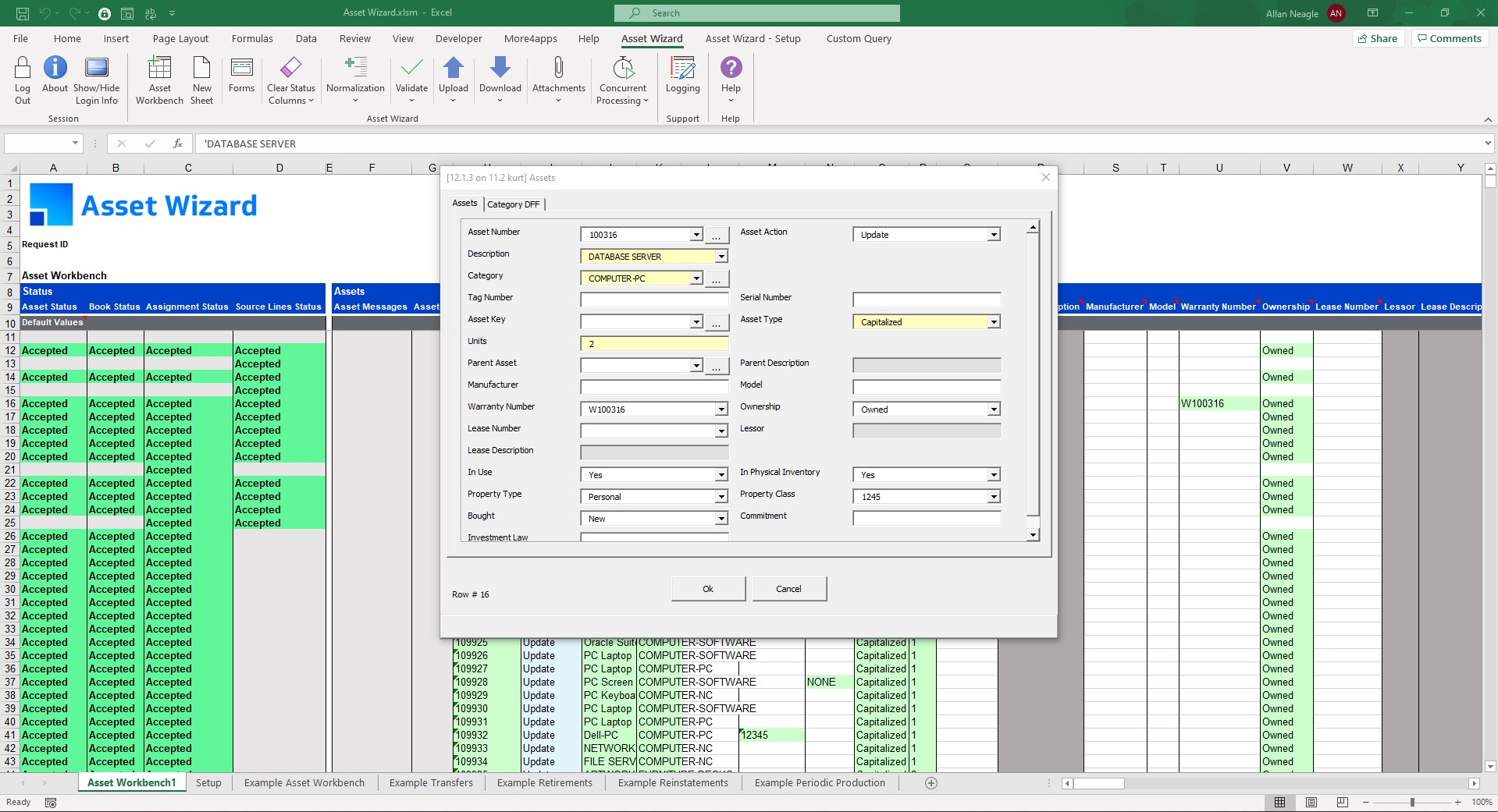 Product Screenshot More4apps Asset Wizard for Oracle E-Business Suite