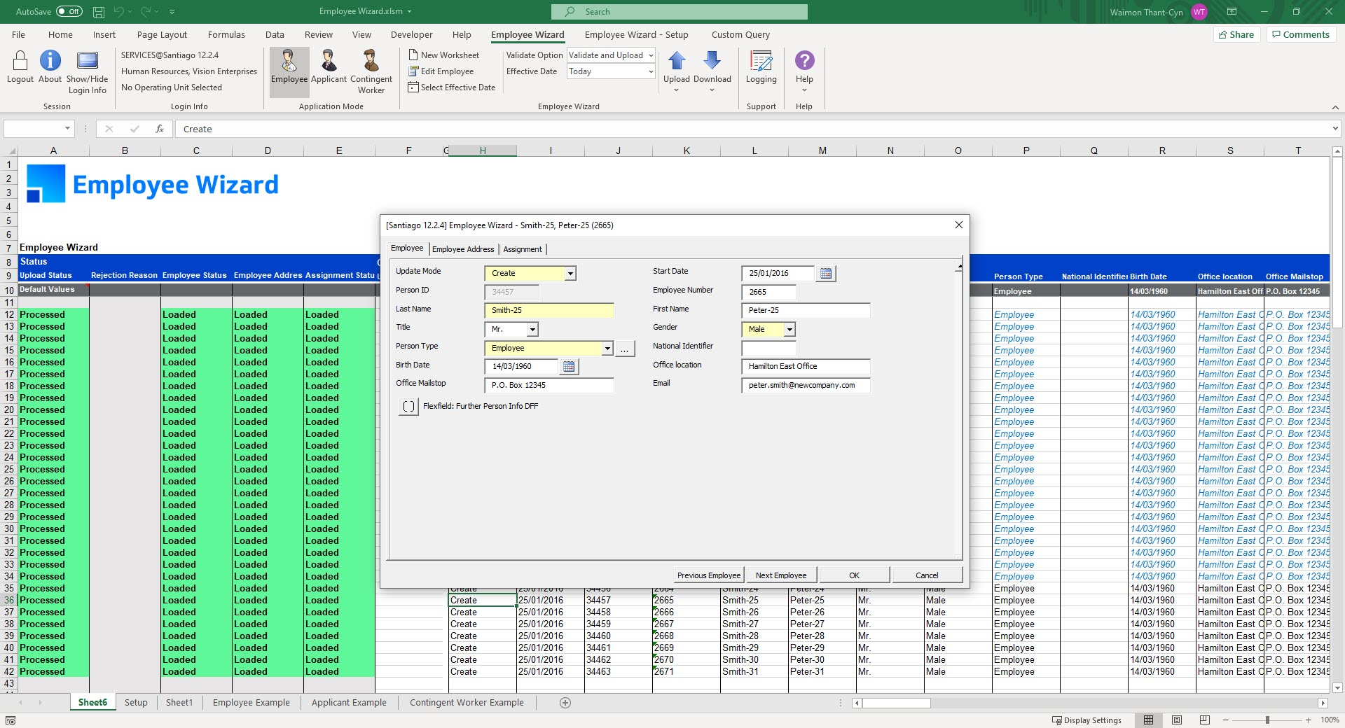 Product Screenshot More4apps Employee Wizard for Oracle E-Business Suite