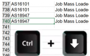 Save time in excel by using the ctrl, plus and arrow down shortcut keys excel users will be taken to the last populated row
