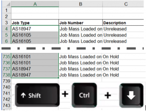Save time in excel by using the shift, ctrl and arrow down key excel users can move quickly around the spreadsheet