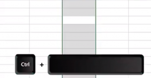To save time in excel select an entire column ctrl key plus space bar