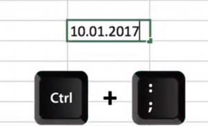 To save time when insert current date in excel use the control key plus semi colon key